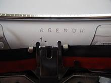 Effective meetings begin with the agenda